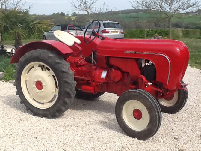 Porsche AP18 Tractor to hire for weddings and event hire